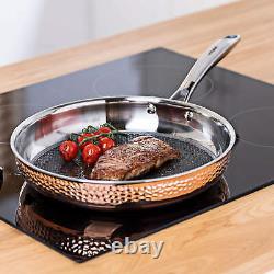 Copper Pan Set Triple Layer 5 Piece Professional Cookware