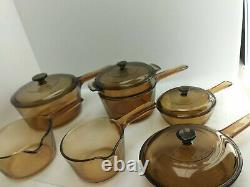 Corning Vision Cookware Amber Set 11 Pieces USA & France Skillet