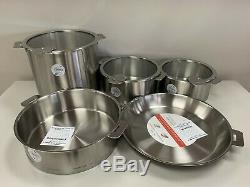 Cristel Strate 12-Piece Stainless Cookware Set