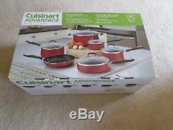 Cuisinart 55-11R Advantage Nonstick 11-Piece Cookware Set Red Brand New