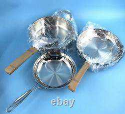 Cuisinart Chef's Classic Pro 11-Piece Cookware Set in Stainless Steel #NO0572