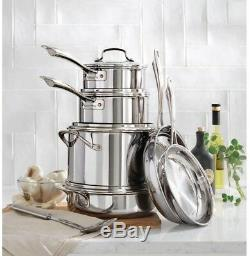 Cuisinart Cookware Set Lids MultiClad Pro 12-Piece Stainless Steel Drip Free