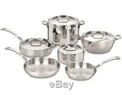 Cuisinart French Classic 10 Piece Cookware Set Stainless Steel FCT-10