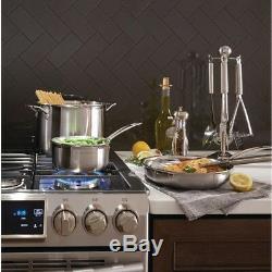 Cuisinart MultiClad Pro Stainless Cookware Set Heat-Resistant Handle 12-Piece