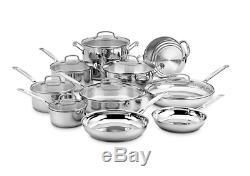 Cuisinart Stainless Steel 17-Piece Cookware Set