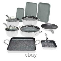 Curtis Stone 14-piece DuraPan Nonstick All-Purpose Cookware Set-Turquoise