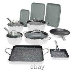 Curtis Stone 14-piece DuraPan Nonstick All-Purpose Cookware Set-White