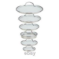 Curtis Stone Dura-Pan Nonstick 16-piece Nesting Cookware Set-Black