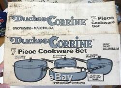 Duchess Corrine Heavy Gauge Aluminum Cookware New 7 Piece Set Ace Of Club VTG