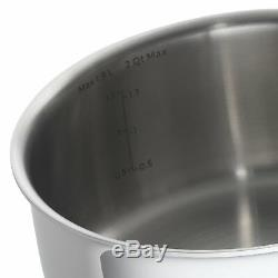 Emeril Lagasse 10 Piece Tri-Ply Stainless Steel Cookware Set NEW