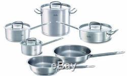 Fissler 10 Piece Original Profi Stainless Steel Cookware Set NEW