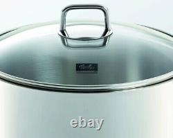 Fissler Munich 9-Piece Stainless-Steel Cookware Set with Glass Lid NEW