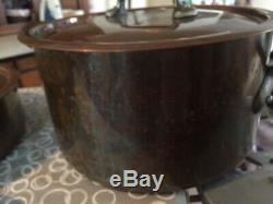 French copper pan set Mauviel M'Heritage (11 pieces) RRP in excess of £1,000