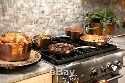 Gotham Steel 10 Piece Hammered Nonstick Copper Cookware Set AS Seen on TV! NEW