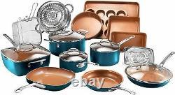 Gotham Steel 20 Piece Nonstick Cookware & Bakeware Set 3 Colors