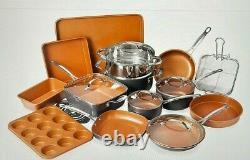 Gotham Steel 20 Piece Nonstick Cookware & Bakeware Set Graphite Color