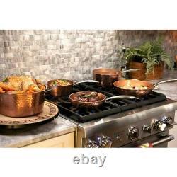 Gotham Steel Cookware Set Oven Safe Nonstick Ti-Ceramic Hammered Copper 10-Piece