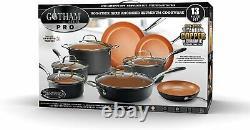 Gotham Steel Pro Hard Anodized Nonstick 13 Piece Cookware Set As Seen on TV