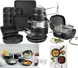 Granite Stone Pot Pan Set Kitchen Cookware Bakeware Nonstick 20 Piece 7081 New