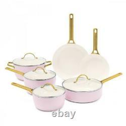 Greenpan Padova Reserve 10 Piece Cookware Set, Blush