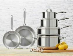 JA Henckels International 10-piece Tri-ply Stainless Steel Cookware Set NEW