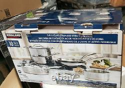 Kirkland Signature 10-piece 5-ply Clad Stainless Steel Cookware Set