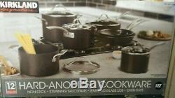 Kirkland Signature 12-piece Hard Anodized Cookware Set NewithOpened Box