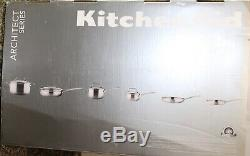 KitchenAid Gourmet Stainless Steel Tri-Ply 10 Piece Cookware Set, KCGTS10SX