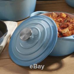 Kitchen Cookware Cast Iron Pots Pans Ovenware Set 8 Piece Oven Proof GRADE B