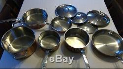 Lagostina Martellata 10-Piece Hammered Copper Tri-Ply Cookware Set