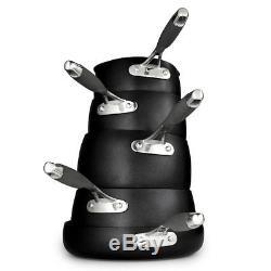 Lakeland Hard Anodised Bell Shaped 5-Piece Pan Set
