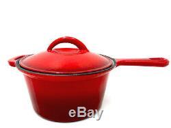 Le Chef 16-Piece Enameled Cast Iron Cookware Set, Cherry