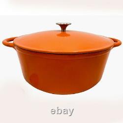 Le Chef 18-Piece Enamel Cast Iron Cookware Set, Orange