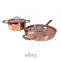 Le Chef 5-ply Copper 4 Piece Cookware Set with Copper Lid, Super Sale