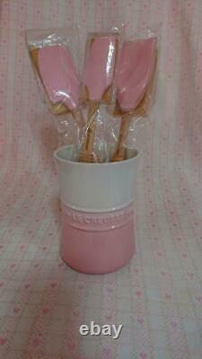 Le Creuset Silicone Spatula Set of 3 pieces Pink Discontinued Rare Cookware New