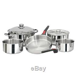 Magma Nesting 10 Piece S. S. Cookware Set A10-360L