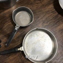 Magnalite Dual Spout Set Cast Aluminum Vintage Fry Pan Stockpot Saucepan 9 Piece