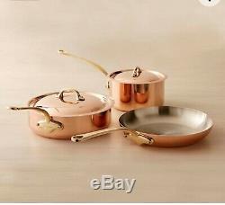 Mauviel 5 Piece Copper Cookware Set-NEW Retail ($900.00)