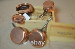 Mauviel 6400.01 5 Piece Copper & Stainless Cookware Set with Cast Iron Handles