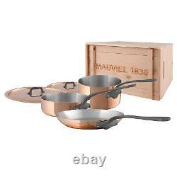 Mauviel M'150C2 5 Piece Cookware Set WithCrate, Cast Iron Color Handle