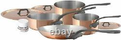 Mauviel M'150c2 Copper & Stainless Steel 7 Piece Cookware Set 6450.02 NEW