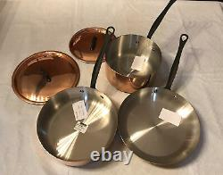 Mauviel M'Heritage1830 M 150 5 Piece Copper Cast Stainless Steel Cookware Set