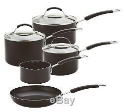 Meyer Aluminium Induction Compatible 5-Piece Cookware set, Black