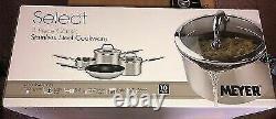 Meyer Select 4 Piece Stainless Steel Cookware Set Saucepan Frypan Milkpan