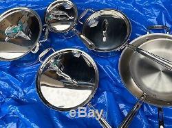 NEW $1499 All-Clad Copper Core 10-Piece Cookware Set Pan Pot FREE SHIP