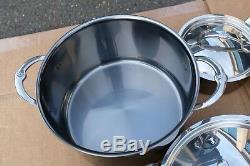 NEW $1599.95 Hestan NanoBond Stainless-Steel 10-Piece Cookware Set Pot Pan Set
