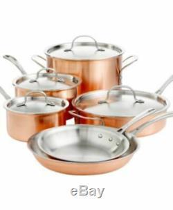 NEW Calphalon T10 Tri-Ply Copper 10 Piece Cookware Set in Box