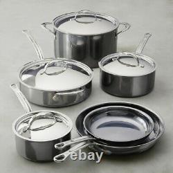 NEW Hestan NANOBOND Stainless Steel 10 piece Cookware Set ITALY Titanium