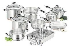 NEW Scanpan Coppernox Cookware 9 Piece Set 10-YEAR MANUFACTURER WARRANTY