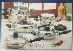 NEW in Box CARICO CookWare Gourmet Set 10 Pieces ULTRA TECH II pots pans lids